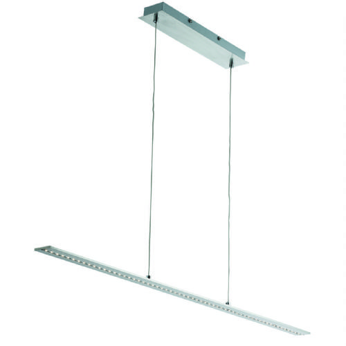 Led Bar Lights - Pendant Bar Satin Silver - Straight (Class 2 Double Insulated) Bx2065Ss-17